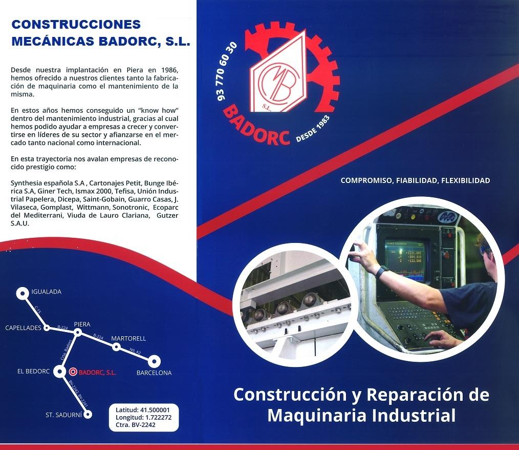 CONSTRUCCIONES MECÁNICAS BADORC, S.L.